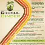 Va invitam la Crosul Binder, editia a V-a, 24 Mai 2015